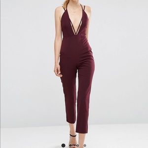 ASOS Cami Jumpsuit with Strap Detail in Wine 🍷